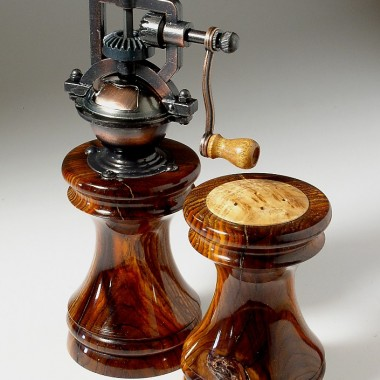 """Antique Series"" Handmade Wooden Peppermills by Brad Sears"