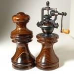 Antique Series Salt Grinder & Pepper Mill in French-Polished Cocobolo.