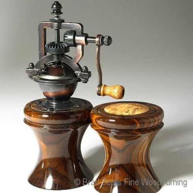 """""""Bell Series"""" Handmade Wood Turned Pepper mills by Brad Sears"""
