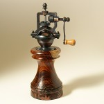 Antique Series Pepper Mill in oil-finished Cocobolo with cold-cast copper inlays.